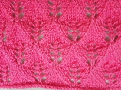 Easy Single Color Knitting Pattern No.33| Hindi