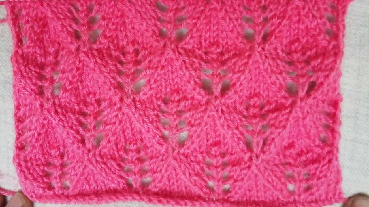 Easy Single Color Knitting Pattern No 33 Hindi