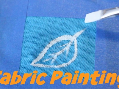 FABRIC PAINTING | How to paint stretch and non stretch fabric