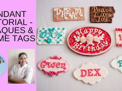 Fondant Plaques and Name Tags - How to decorate a cake - How to make fondant plaque , Name Tags
