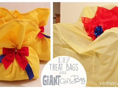 Gift Bags and Treat Bags How to | Giant Gift Bag! | Snow White Series | Whitney Sews