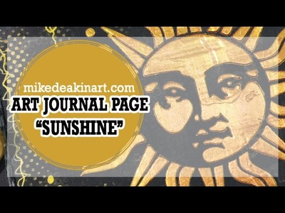 How to: Art Journal Page - Sunshine