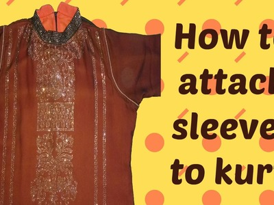 How to attach sleeves to readymade kurti - Easy Method