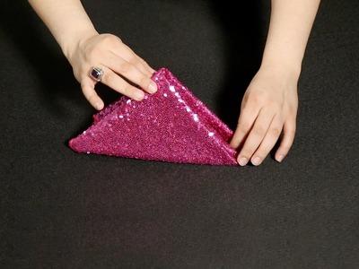 How to Create a Napkin Pyramid Fold