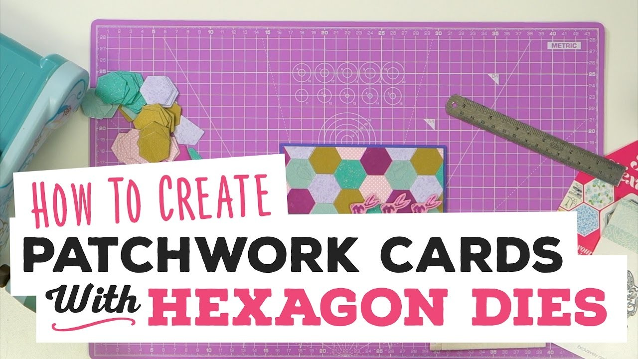 How To Create Patchwork Cards with Hexagon Dies