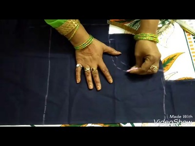 How to cut a simple blouse | Blouse cutting for freshers