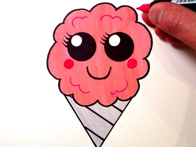 How to Draw a Cute Cotton Candy