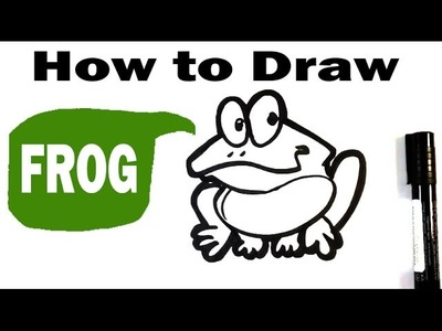 How to Draw a Frog - Cute Art - Easy Pictures to Draw