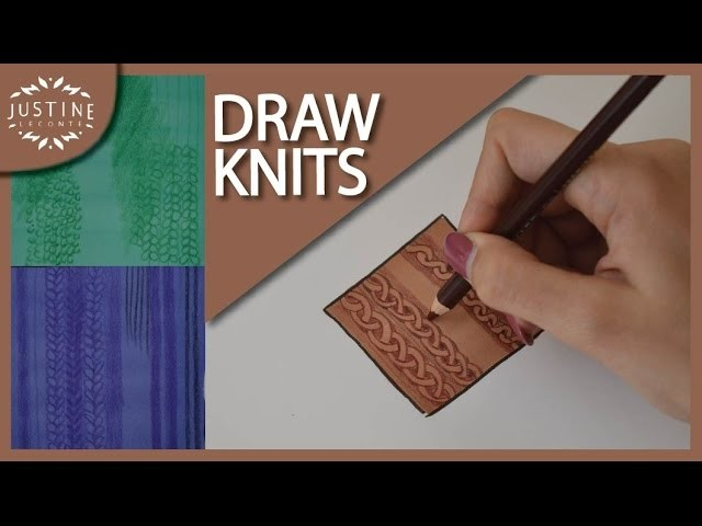 How to draw knitted fabrics | Justine Leconte