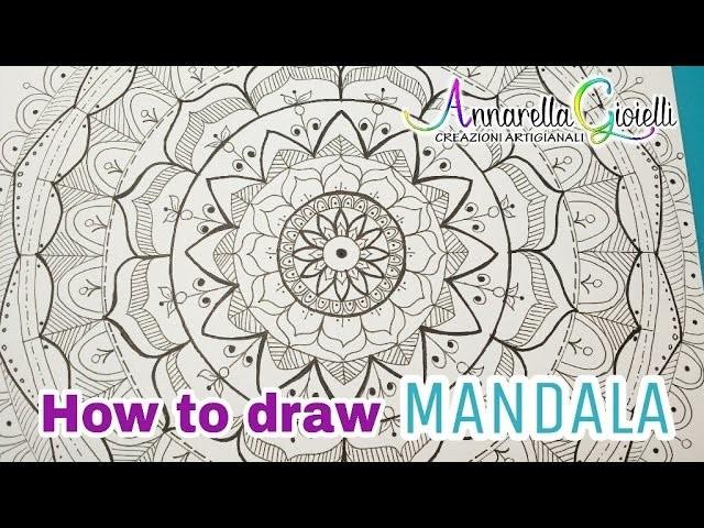 ???? How to draw Mandala step by step ???? Annarella Gioielli ???? Speed video 5x