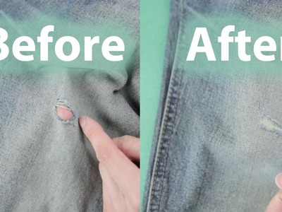 How to Fix a Hole in Your Jeans | BeatTheBush