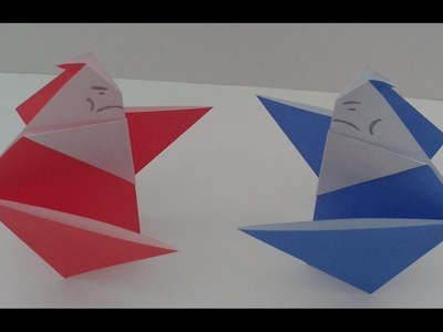 How to Fold an Origami Sumo Wrestler (Tutorial)