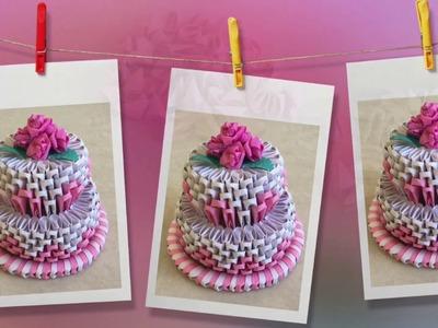 How to make 3D Origami Cake ????. cake tutorial | Priti Sharma