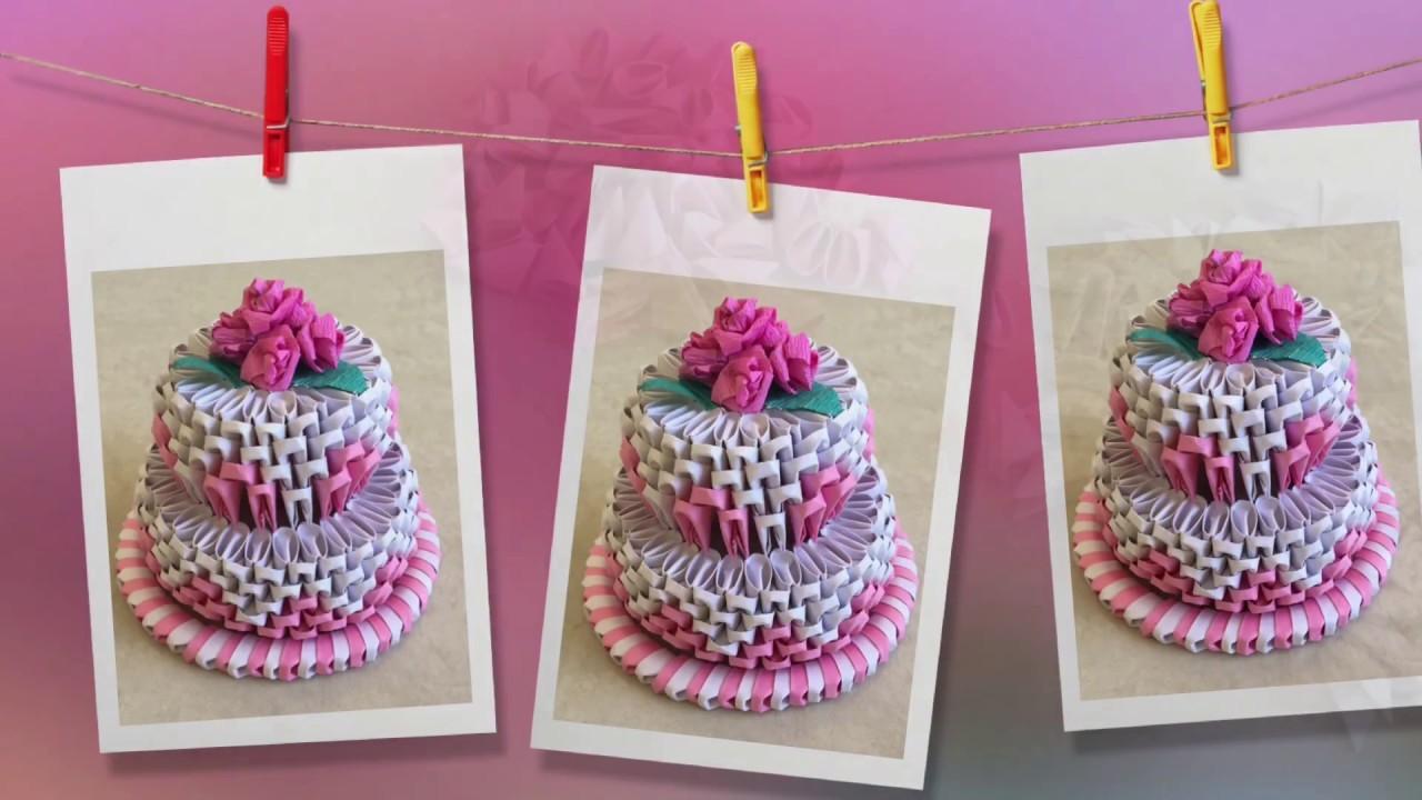 how to make 3d origami cake cake tutorial priti sharma