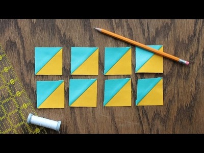 How to Make 8 Triangle-Squares at One Time
