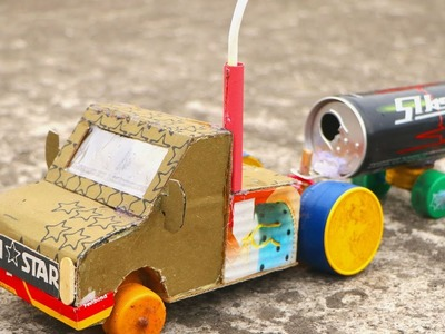 How to Make a Battery Powered Truck with DC Motor (Easy & Simple) - Toy for kids