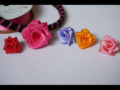 How to make a beautiful ribbon rose headband