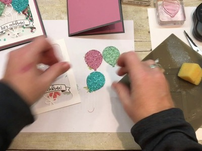 How to Make a Birthday Shaker Card with Stampin Up's Balloon Adventures