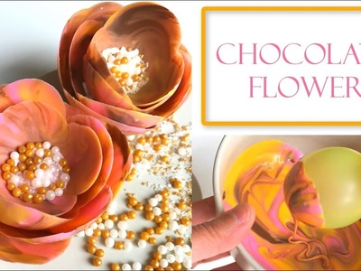 How to Make a Chocolate Flower | Using Water Balloons