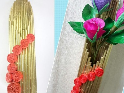 How to make a flower Vase. Best from waste - Newspaper