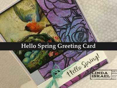 How to make a Hello Spring Greeting Card