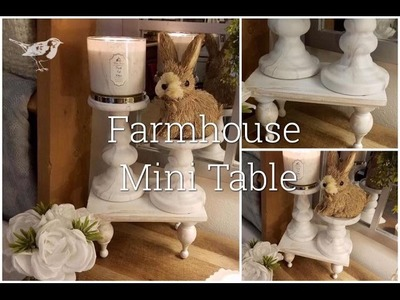 "How To Make a Mini Farmhouse 7 "" X 9"" Table under $9.50"