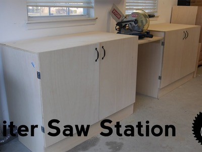 How to Make a Miter Saw Station | The Easy Way!