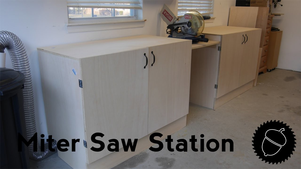 How to Make a Miter Saw Station   The Easy Way!
