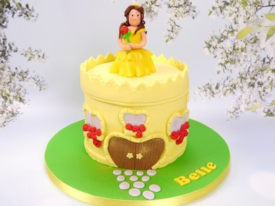 How To Make A Princess Belle And Castle Cake