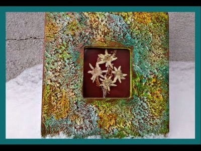 How to Make a Textured Picture Frame  #oopsadaisyhop