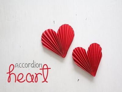 How to make  Accordion Hearts