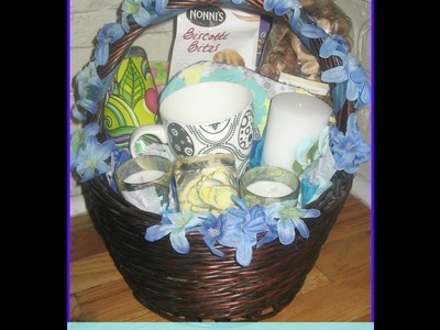 How to make an easy wedding gift basket. DIY gift baskets