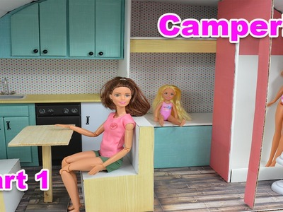 How To Make Barbie Doll Camper! - With Bathroom! Part 1  Barbie Really Talks!