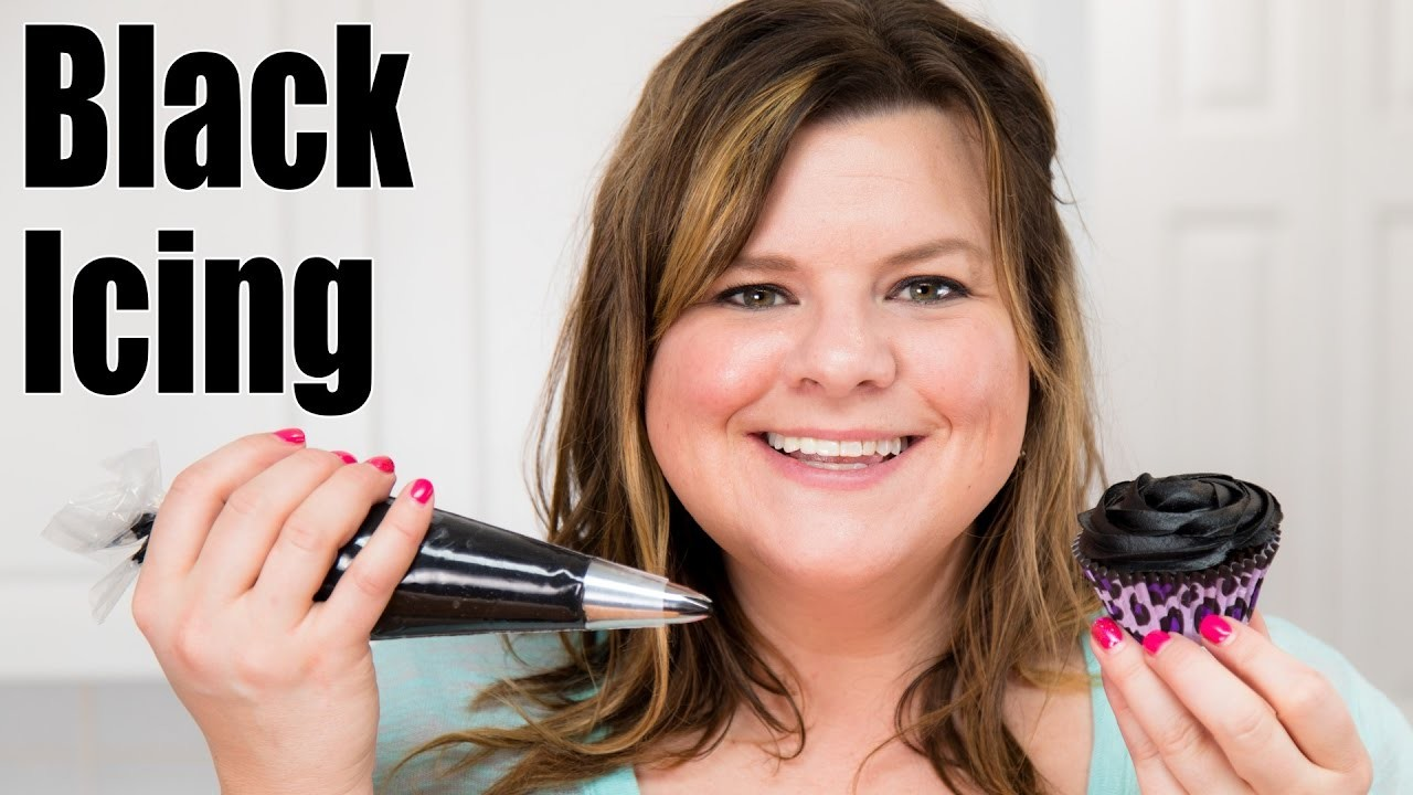How to Make Black Icing. Black Buttercream Recipe for Cake Decorating: Tutorial from Jenn Johns
