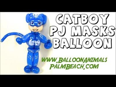 How To Make Catboy PJ Masks Balloon - Balloon Animals Palm Beach