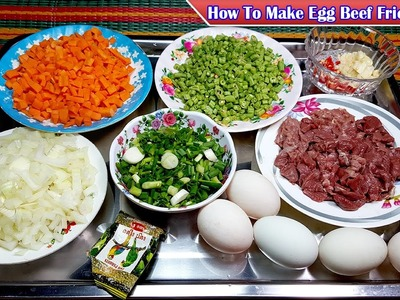 How To Make Egg Beef Fried Rice, How to cooking food by Yummy Yummy