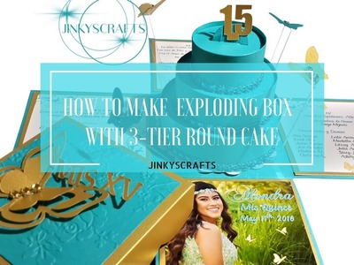 How To Make Exploding Box Invitation with 3-Tier Round Cake