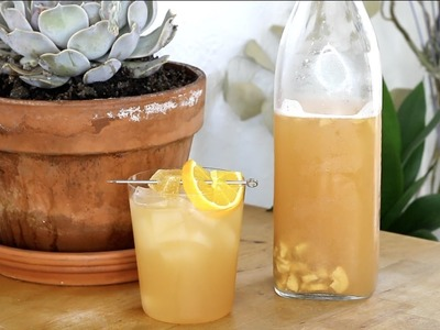 How to make fizzy flavored KOMBUCHA at home