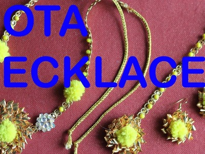 HOW TO MAKE GOTA NECKLACE (FOR MEHNDI AND HALDI CEREMONY) AT HOME | DO IT YOURSELF WITH GOTA LACE