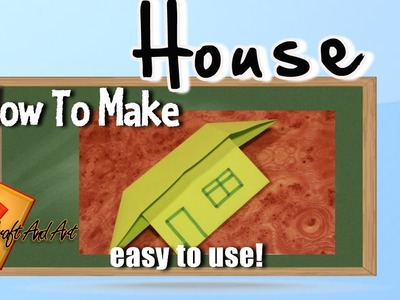 How to make house. Origami house easy.