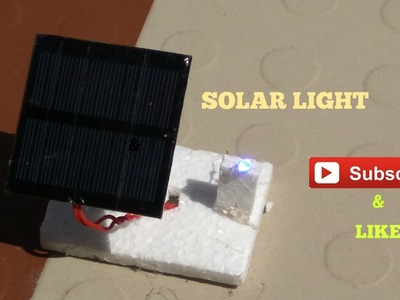 How to make mini Solar light source school science project