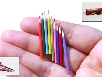 How to make miniature colour Pencils