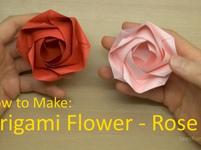 How to Make: Origami Flower - Rose