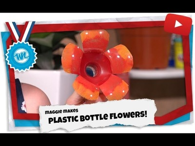 How to Make Plastic Bottle Flowers! | Maggie Makes