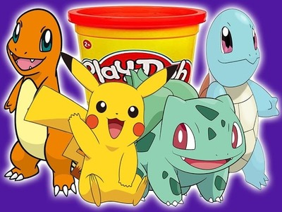 How to Make Play Doh Pokemon????Squirtle????????Charmander????????Bulbasaur????⚡Pikachu⚡ COMPILATION!  | ???? Crafty Kids