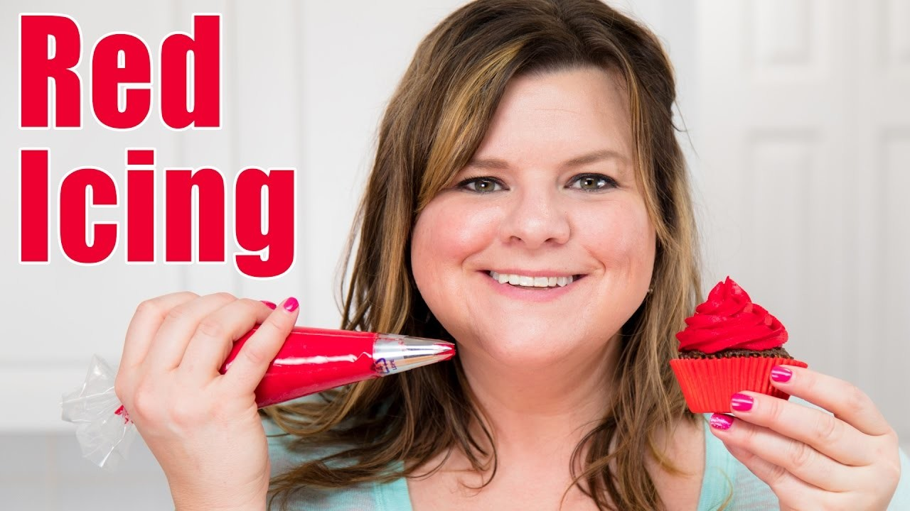 How to Make Red Icing. Red Buttercream Recipe for Cake Decorating: Tutorial from Jenn Johns