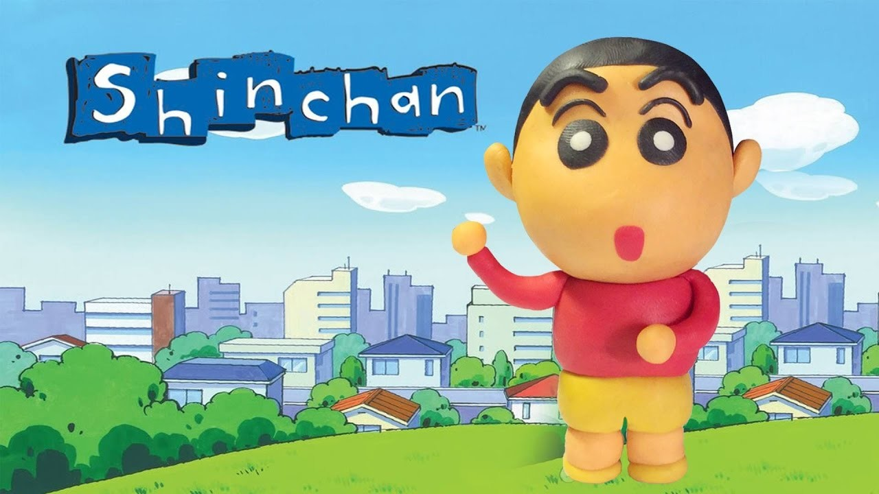How To Make Shin Chan Play Doh - Shin Chan Clay Tutorial