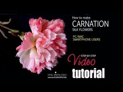 How to make silk flower - Carnation