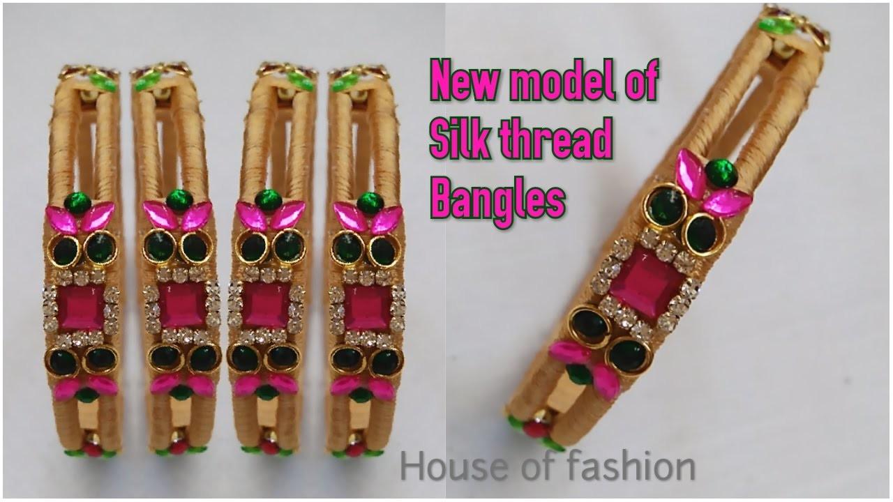 How TO mAKE Silk Thread Bangles||Innovative Idea Of Silk Thread Bangle Making