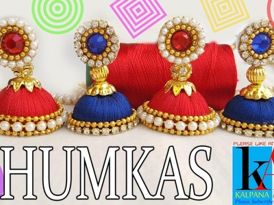 How to make simple silk thread jhumkas | Easy and simple | DIY at home